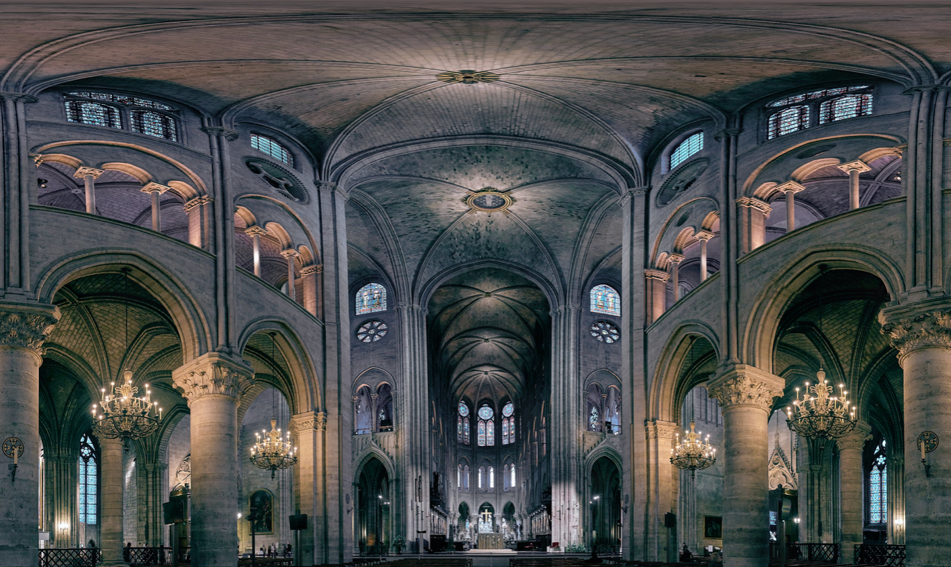 Glowing, the Cathedral has high ceilings and beautiful lighting that lights up the inside. This photo was taken a little less than a year before the cathedral broke out in flames, and instilled tragedy into everyone who cherished it.