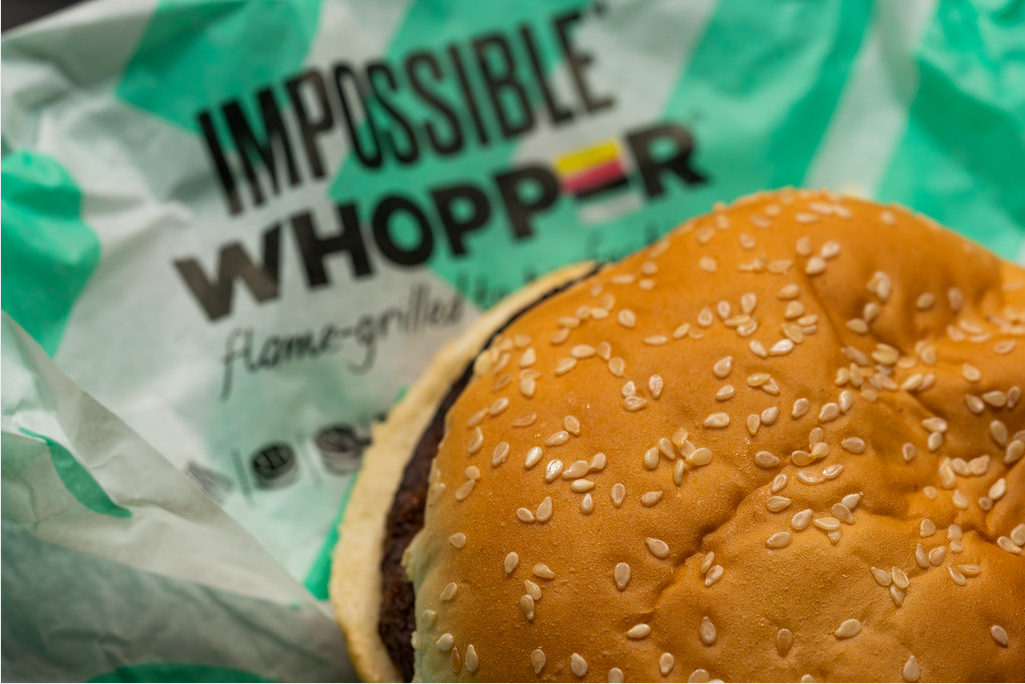 Products containing meatless meat, like Burger King's