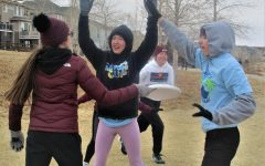 On Friday, Feb. 19, the cross country team was playing frisbee in 9 degree weather at Stonehenge.