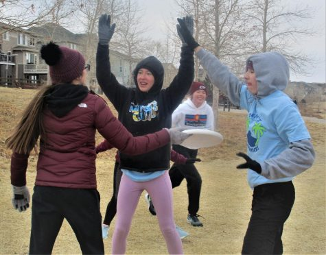 "On Friday, Feb. 19, the cross country team was playing frisbee in 9 degree weather at Stonehenge. "" We are so committed to frisbee,"" said Kathryn Vann (10), ""I like seeing the team without having to run 7 miles and if we have to do it in 0 degree weather, so be it."""