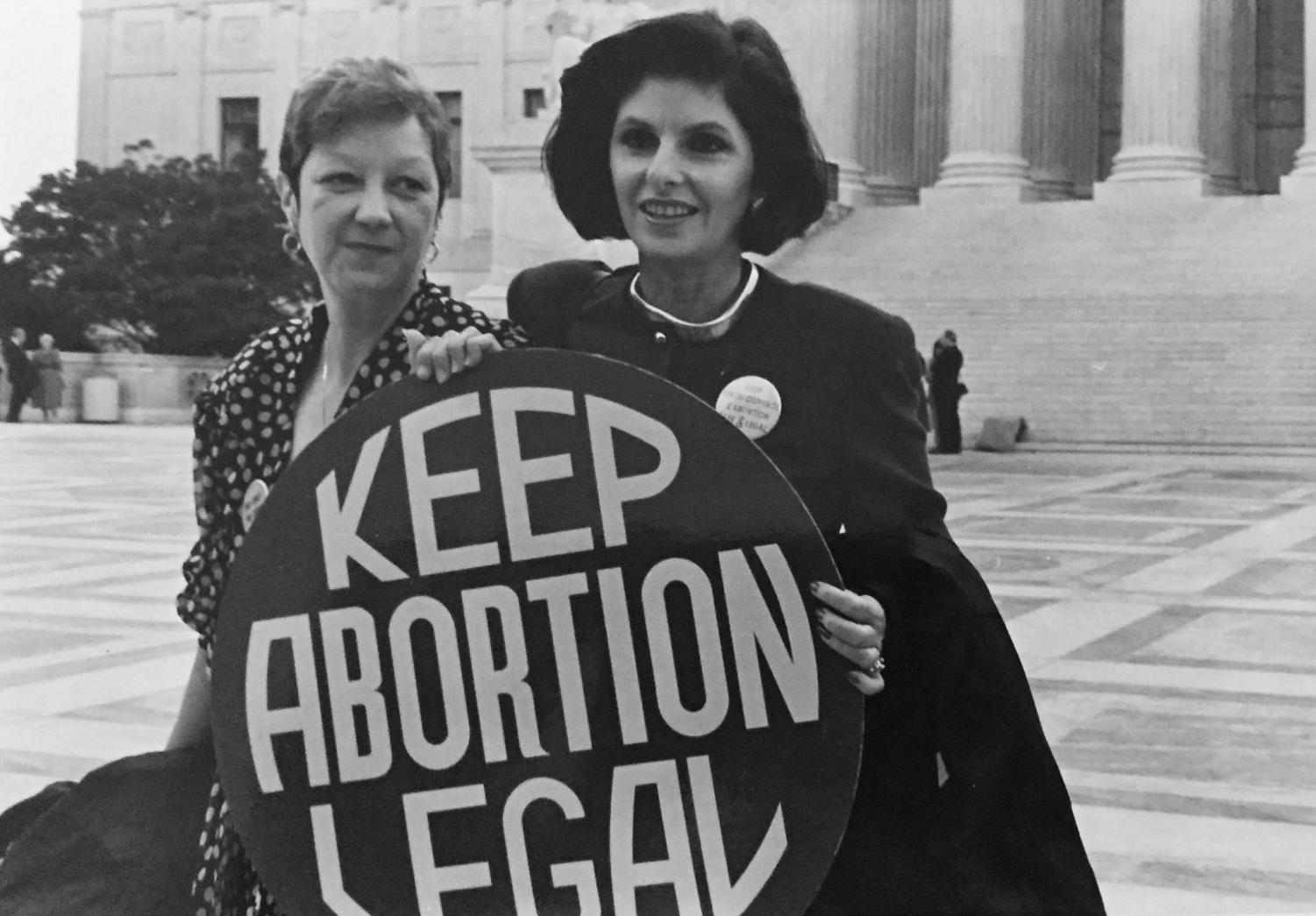 Standing outside the Supreme Court was Norma McCorvery, also known as Jane Roe, in 1989 as she fought in the influential court case: Roe v Wade, and effectively triggering an endless debate in America.
