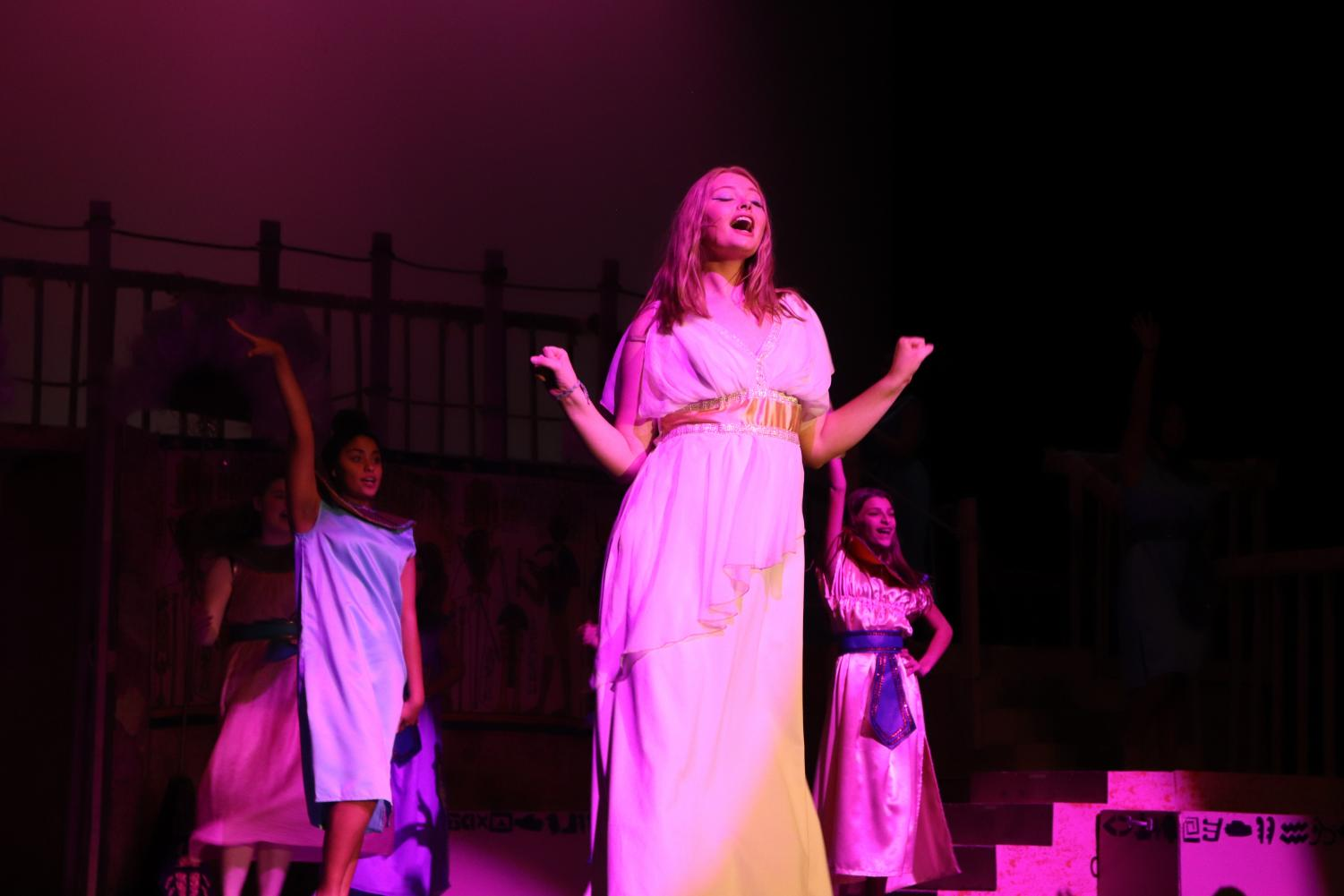 "While others' roles came easy, it was personally contradicting for Emma Larson (11) ""This role isn't something I necessarily see myself as most of the time,"" Larson said. However, Larson broke out of her shell to deliver her best as Amneris."