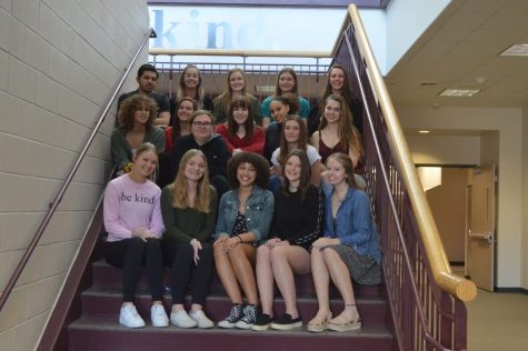 The staff of The Legend, the yearbook, pose together for a picture before the mandatory closing of CCSD schools went into effect. The staff worked hard all year to produce this year