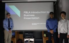 Kyle Stevens (9), Aneesh Indukuri (9), Jayden Sutjiato (9) filmed their districts FBLA Presentation on Jan. 20. The three placed 3rd in their event.   Their accomplishment of qualifying is an example of perseverance in the struggling times We aced every single section, Aneesh Indukuri (9) said. Even new members who originally had no interest can get excited over competing for this team.