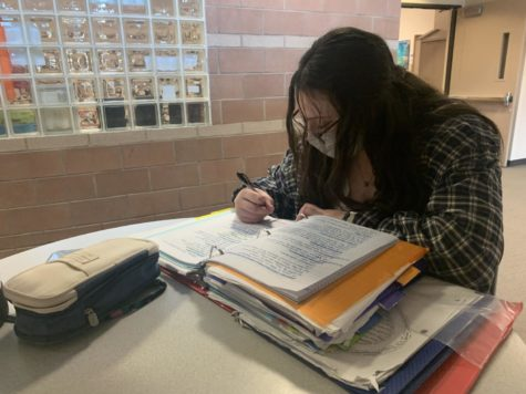 """""""Yeah, I definitely feel like Im missing some studying opportunities. I'll have a test the next day and I have to work the day before and so I'm studying for that thing"""" said student Kendall Warren (10)."""